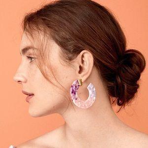BaubleBar Tortoise Marble Pink & Purple Earrings